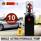 10 QUART SINGLE ACTING HYDRAULIC PUMP DUMP TRAILER REMOTE METAL UNIT PACK NEWEST