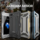 R-just Gundam Metal Aluminum Waterproof Gorilla Glass Case For iPhone 5 6 7