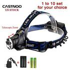 Wholesale 8000 LM CREE T6 LED Flashlight Headlamp Torch+18650 Battery+Charger MT