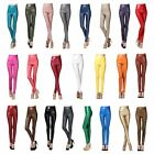 Women Faux Leather High Waist Skinny Warm Stretch Pencil Pants Party Leggings N