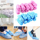 100pc Disposable Plastic Pink Blue Anti Slip Boot Shoe Cover Overshoes Protector
