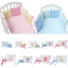 6PCs Baby Crib Bumpers Padded Nursery Bedding Infant Toddler Bed Cot Protector