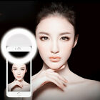 3 Level Rechargeable Selfie LED Ring Fill Light Camera for iPhone Android Phone