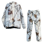 NEW! Winter Outdoor Snowfield Hunting Thermal Fleece Ghillie Suit jkt+pants Set