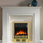 Castleton Cream Inset Electric Fire Surround Set Complete Fireplace Suite Heater