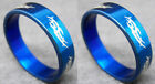 R071S charm fashion unisex blue stainless steel ring you pick size New