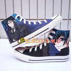 Black Butler Sebastian Ciel Phantomhive High Ankle Canvas Shoes Casual Sneakers