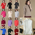 Trendy Women New Warm High Collar Cashmere Sweater Casual Pullover Tops S-3XL