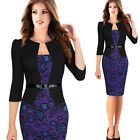 women's elegant lace belt office ladies work wear Cocktail bodycon pencil dress