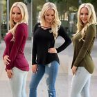 New Womens Long Sleeve Sweatshirt Pullover Ladies Casual Tops T-Shirt Blouse LOT