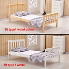 Solid Wood Bed Frame 4ft6 Double 5ft Kingsize Bedstead White Wooden No Mattress