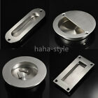2pcs Flush/Recessed Pull Sliding Door Cabinet Handle Satin Stainless Steel Screw