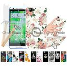 For HTC One A9S 2X Glass Film Kickstand Hard Ring Case Cover Elephant Windbell