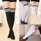 Ladies Over The Knee Thigh High Womens Stretch Girls Cotton Socks One Size 50CM