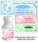 30 BABY FEET BABY SHOWER FAVORS BUBBLE LABELS