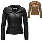Only Giacca da donna Pelle Similpelle Biker Moto Casual Moda Nero Marrone SALE %