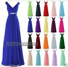 Long Chiffon Wedding Formal Evening Party Ball Gown Prom Bridesmaid Dresses 6-22