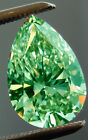 3.08 ct i1/FOREST GREEN COLOR LOOSE PEAR REAL MOISSANITE FOR RING