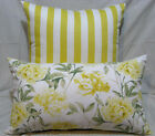 White, Yellow, Green Reversible Cotton Cushion Cover