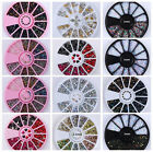 Nail Rhinestones Glitters Crafts Studs 3D Nail Art Decoration Manicure Wheel DIY