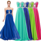 Clearance Long Chiffon Formal Bridesmaid Evening Gown Ball Prom Wedding Dresses