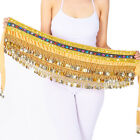 Women Belly Dance Costume Hip Scarf Hipscarf Velvet Halloween Outfits 248