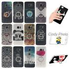 For Samsung Galaxy S7 Edge G9350 Finger Rings Stand IMD Cartoon Case Cover Girl