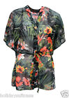 LADIES WOMANS HAWAIIAN BEACH HOLIDAY SUMMER SUN COVER UP KAFTAN TOP SIZE 14-24