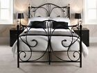 *** Luxury Metal Bed with Crystal Finials - 4ft6 Double Bed Frame ***