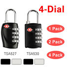 TSA Approved 4-Dial Luggage Locks Combination Padlock Travel Suitcase(1/2/4 Pcs)