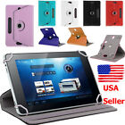 360° Universal Folio Leather Flip Case Cover For Android Tablet PC 8'' 9'' 10''