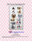 Cats and Dogs Magnet Set-Plastic Canvas Pattern or Kit