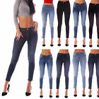 Womens Ladies Jeans/Jeggings Faded Slim Fit Skinny Denim Size 6 8 10 12 14 16 18