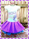 girls trolls dress 4/5 6/6X 7/8 10/12 and 14/16 ready to ship NWT image