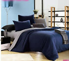 Solids REVERSIBLE DUVET COVER SET EGYPTIAN COTTON #203