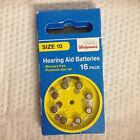 WALGREENS HEARING AID BATTERIES 24 PACK MERCURY FREE SIZE 10 - 13 - 675 ZINC AIR