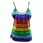 NEW Rainbow Sequin Singlet Top 3 Sizes Women's Mardi Parade Gras Gay Pride LGBT