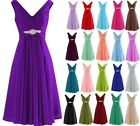 Short Chiffon Bridesmaid Formal Gown Ball Party Evening Prom Dress Size 6-22 New