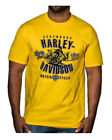Harley-Davidson Men's Retro Racer Short Sleeve Crew Neck T-Shirt, Yellow image