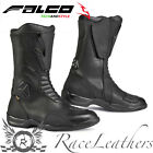 FALCO KODO 2 BLACK LEATHER WATERPROOF MOTORCYCLE BIKE TOURING BOOTS WITH D30