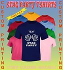 Personalised Printed  Tshirts  Custom Design MENS SINGLE  STAG  BACHELOR PARTY