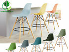 Eiffel Style Dining Chair Retro Designer Bar Stool wood legs