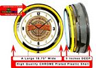 """19"""" Double Neon Clock BUDWEISER BEER Chrome Finish"""