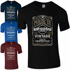 Made in 1999 T-Shirt Born 18th Year Birthday Age Present Vintage Funny Mens Gift