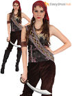 Ladies Pirate Gypsy Lady Costume Adult Caribbean Buccaneer Fancy Dress Outfit
