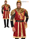Mens Deluxe Knight Costume Medieval Red Crusader Adult Fancy Dress Outfit