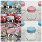 6 oz PLASTIC Favor JARS with LIDS Wedding Party Gift Favors Holders WHOLESALE