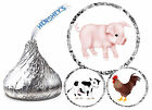 216 PIG COW CHICKEN FARM ANIMALS PARTY FAVORS HERSHEY KISS KISSES LABELS