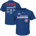 NEW Majestic 2016 Chicago Cubs MLB World Series Champions Roster T - Shirt SIZES on Ebay