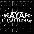 KAYAK FISHING Decal Vinyl Sticker Angler Salt Fisherman Fish paddle padal #1